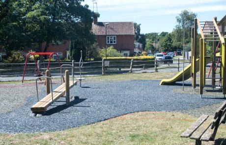 view of new playground